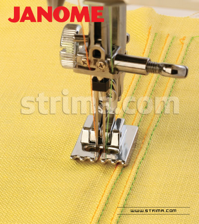 Piping and cording foot (for machines with shuttle hook)