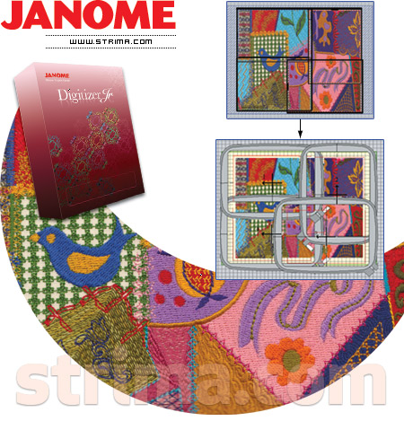 Embroidery Design Software Janome Digitizer Jr V45