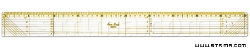 Quilting ruler, 50x500 mm, metric scale, yellow and black