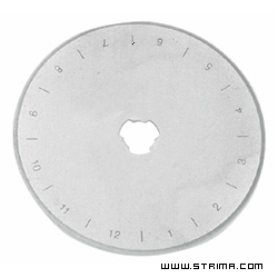 DW-RB006P R - Rotary cutter blade 60 mm, straight