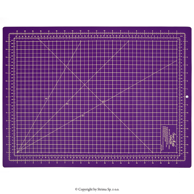 Self-healing cutting mat 60x45 cm, thickness 2 mm