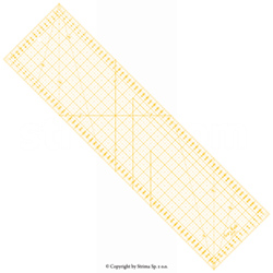 Quilting ruler, 160x600 mm, metric scale, yellow
