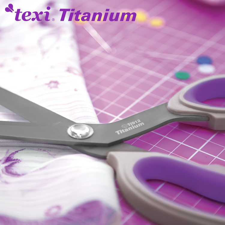 "9 1/2"" (24 cm) Titanium coated, professional dressmaker shears"