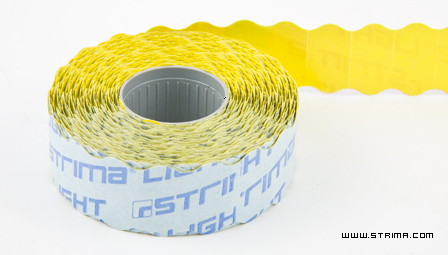 Label for labelling device 22x12 mm yellow