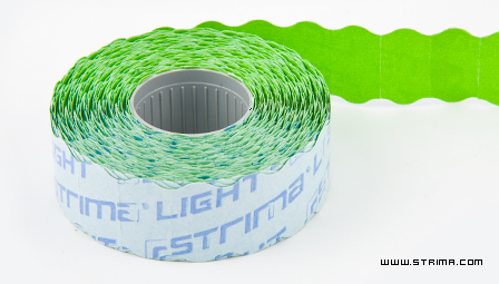 STRIMA LIGHT GREEN - Label for labelling device 22x12 mm green