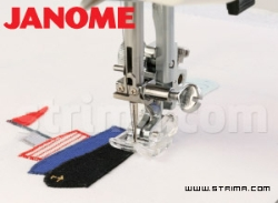 Application and decorative stitches foot (for machines with horizontal rotary hook)