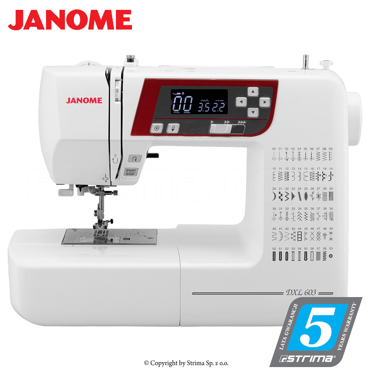 JANOME DXL603 - Computerized sewing machine