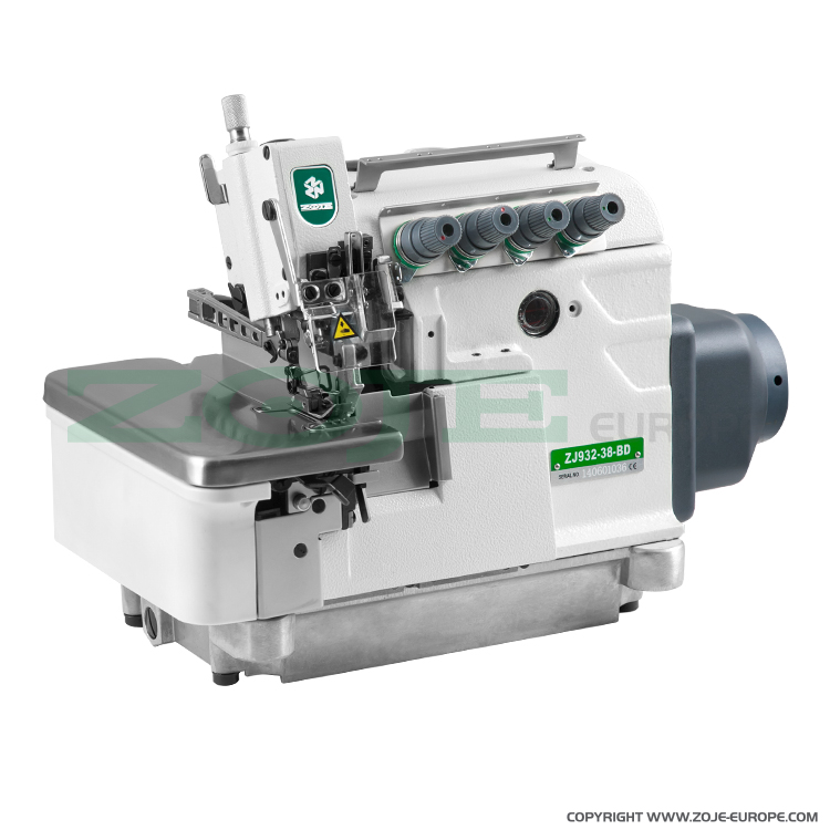 5-thread overlock (safety stitch) machine, light and medium materials, direct drive needle bar, built-in AC Servo motor, needles positioning - machine head