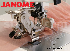 846415008 JANOME - Ruffler (for machines with shuttle hook, horizontal rotary hook and with upper feed)