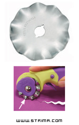 Rotary cutter blade 45mm, wave - DW-RB001W