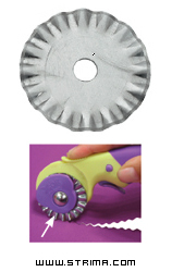 Rotary cutter blade 45 mm, pinking