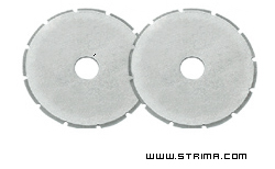 Rotary cutter blade 28 mm, skip, 2 pcs