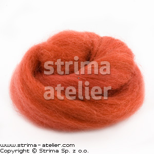 Worsted wool 28 microns - raspberry