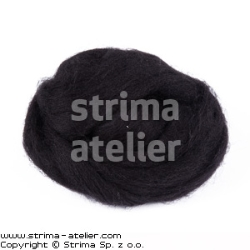 Worsted wool 28 microns - black
