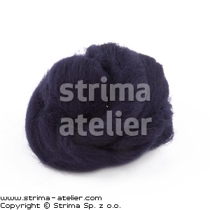 Worsted wool 28 microns - navy blue