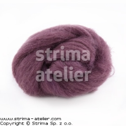 Worsted wool 28 microns - light heather
