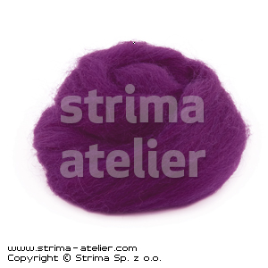 Worsted wool 28 microns - violet