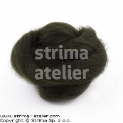 Worsted wool 28 microns - bottlegreen