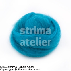 Worsted wool 28 microns - turquoise