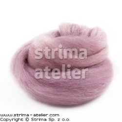 Worsted wool 28 microns - dirty pink - 28M P-2726