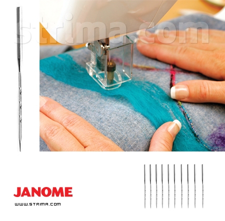 Set of 10 fine needles for JANOME FM725