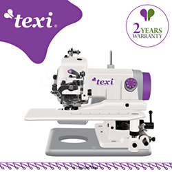 Portable blind stitch machine for light and medium fabrics - machine with 2 year warranty - TEXI COMPACTA 2YG