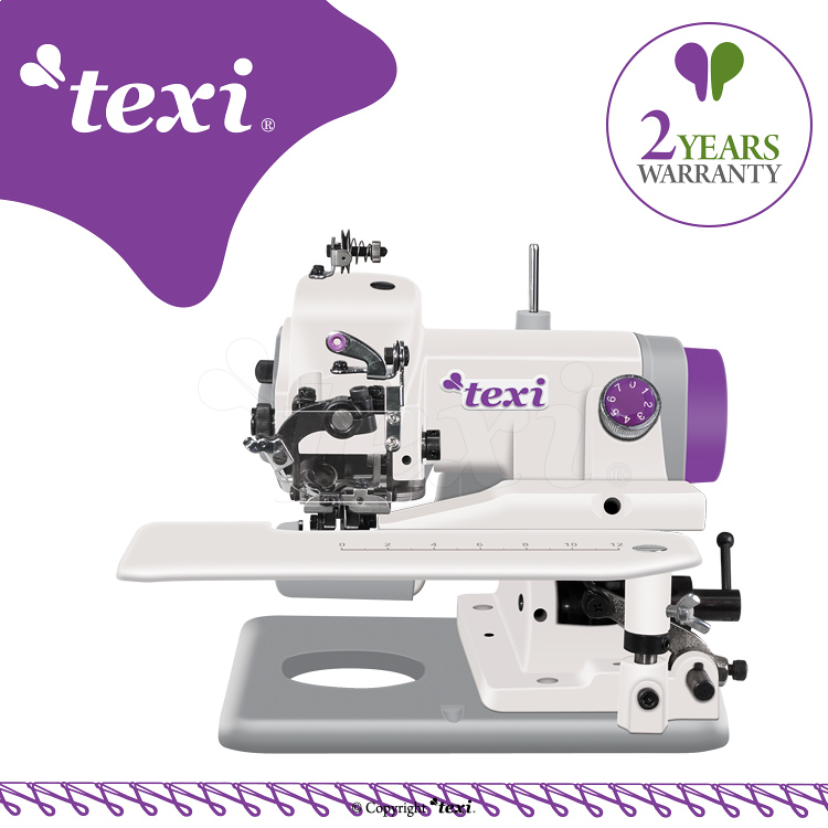 TEXI COMPACTA 2YG - Portable blind stitch machine for light and medium fabrics - machine with 2 year warranty