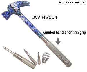 DW-HS004 - Craft 5-in-1 hammer kit, 202x72mm