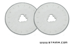 Rotary cutter blade 28 mm, straight, 2 pcs. - DW-RB003P 2R