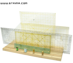 Wooden ruler rack for 9 rulers, 18x48 cm