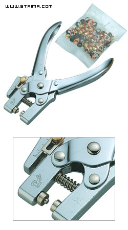 NS-T0013 - 2-in-1 eyelet plier, 100 pcs of 4,8 mm eyelets included