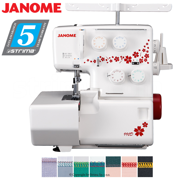 JANOME 990D - 90th anniversary edition - 3, 4-threads overlock machine - sewing machine