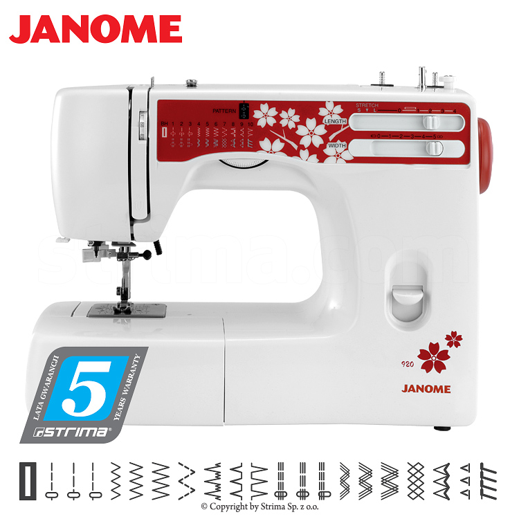 JANOME 920 - 90th anniversary edition - Multifunctional sewing machine