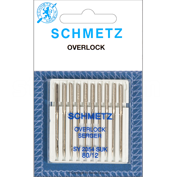 SCHMETZ ball point needles for Singer household machines, 10 pcs. 10x80