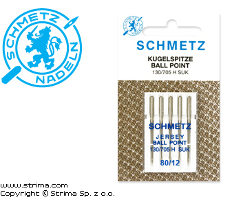 SCHMETZ ball point needles 130/705 H-SUK, 5pcs. 5x80, - 130/705 H SUK VCS