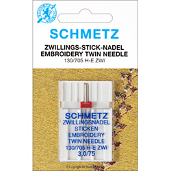 SCHMETZ embroidery needles 130/705H-E, 2x75