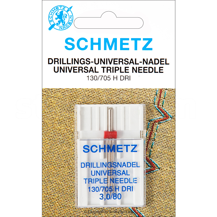 130/705 H DRI NE 3,0 SCS - SCHMETZ drilling needle 130/705H DRI, distance 3,0 mm, 3x80