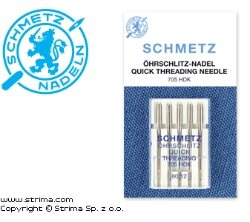 SCHMETZ needle with large eye for easy threading, 5x80