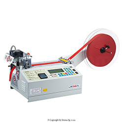 Automatic tape cutting machine, hot knife and cold knife