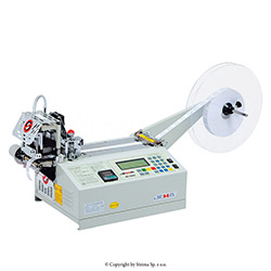 Automatic tape cutting machine, straight or slant cut
