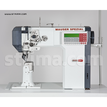 MA591-900/83-910/17-911/40-CL SET - MAUSER automatic lockstitch post-bed machine, rolling and needle transport - complete sewing machine