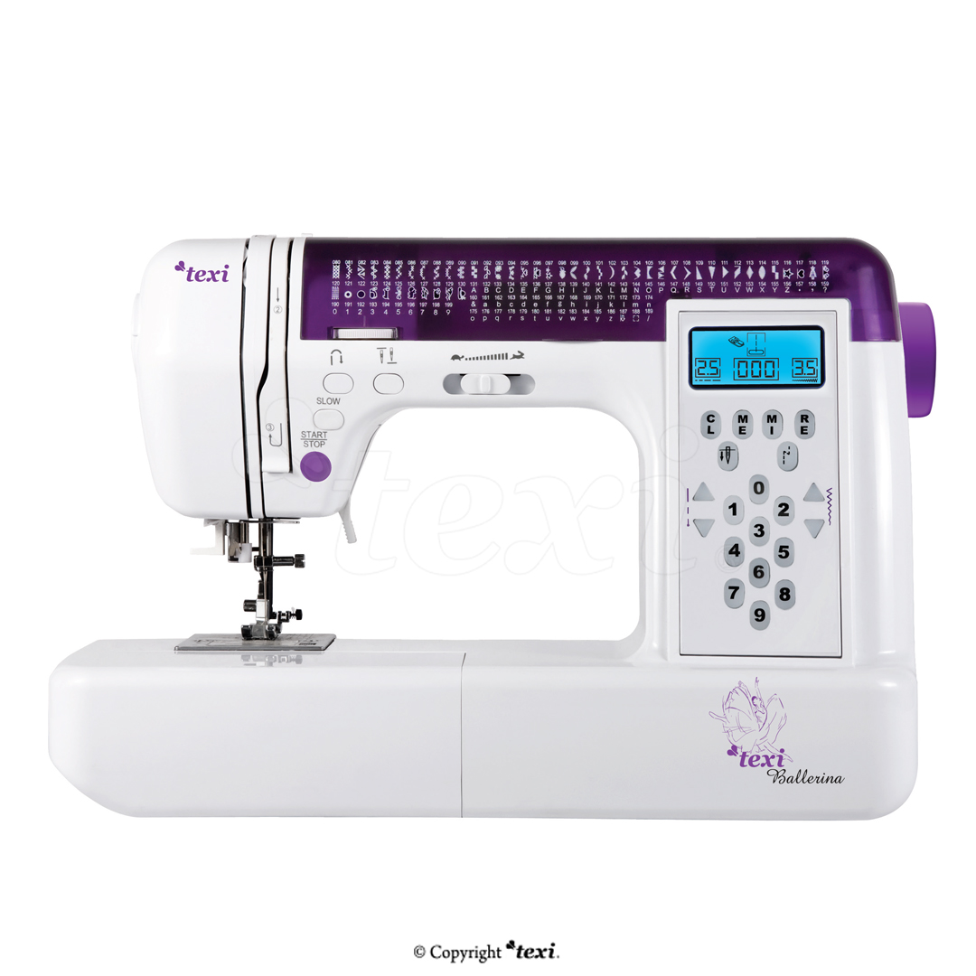 TEXI BALLERINA - Computerized sewing machine, 200 stitch programs