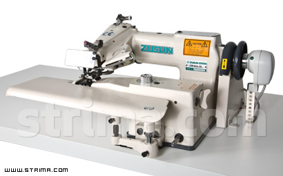 Blind stitch machine with thread trimmer and synchronizer - complete sewing machine