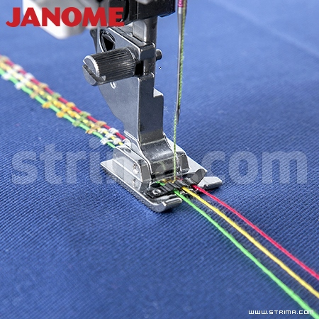 202085001 JANOME - Foot for sewing on a decorative cords (for machines with 9 mm stitch width)