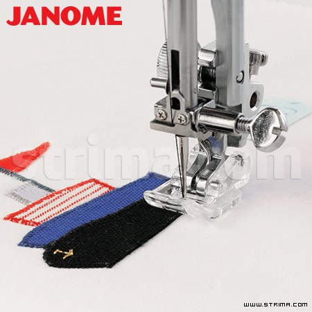 202086002 JANOME - Application foot for household machine (for machines with 9 mm stitch width)