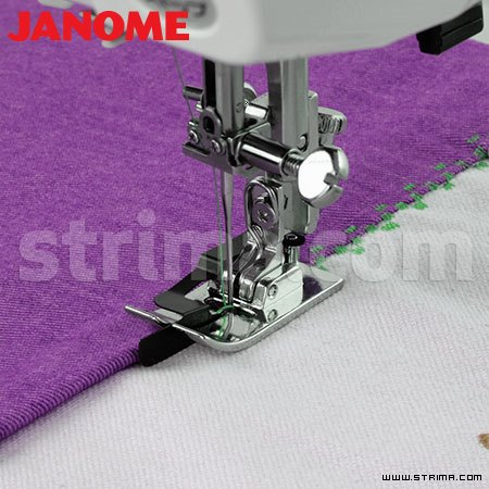 202087003 JANOME - Foot with central guide (for machines with 9 mm stitch width)