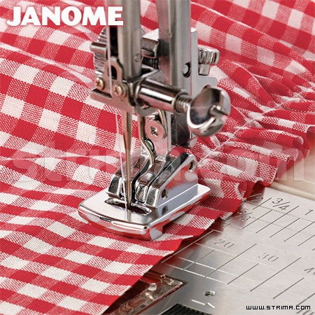 202096005 JANOME - Shirring foot (for machines with 9 mm stitch width)