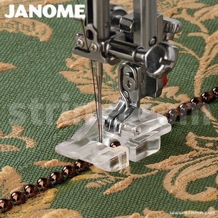 202097006 JANOME - Beads and pearls foot (for machines with 9 mm stitch width)