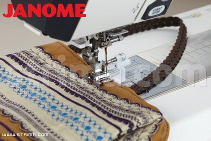 202100003 JANOME - Foot with adjustable guide (for machines with 9 mm stitch width)