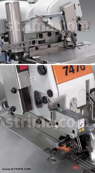 Electric thread / tape cutter for 757Q overlock